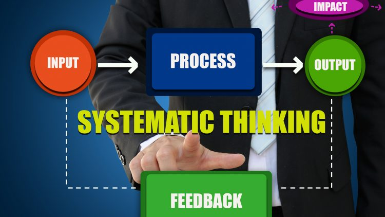 Diagram of systematic thinking for business concept